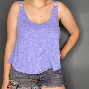 Free People Carly Tank Top Brilliant Cobalt XS S